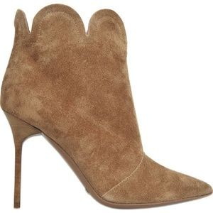 Burberry Samantha Brown Suede High Heel Ankle Boot